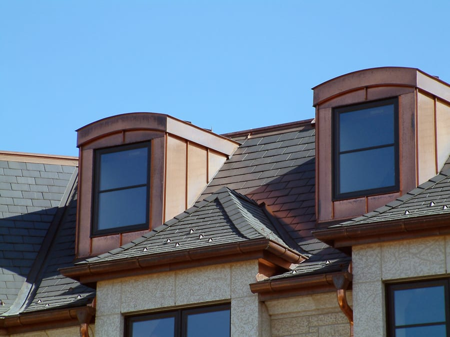Custom Copper Dormers