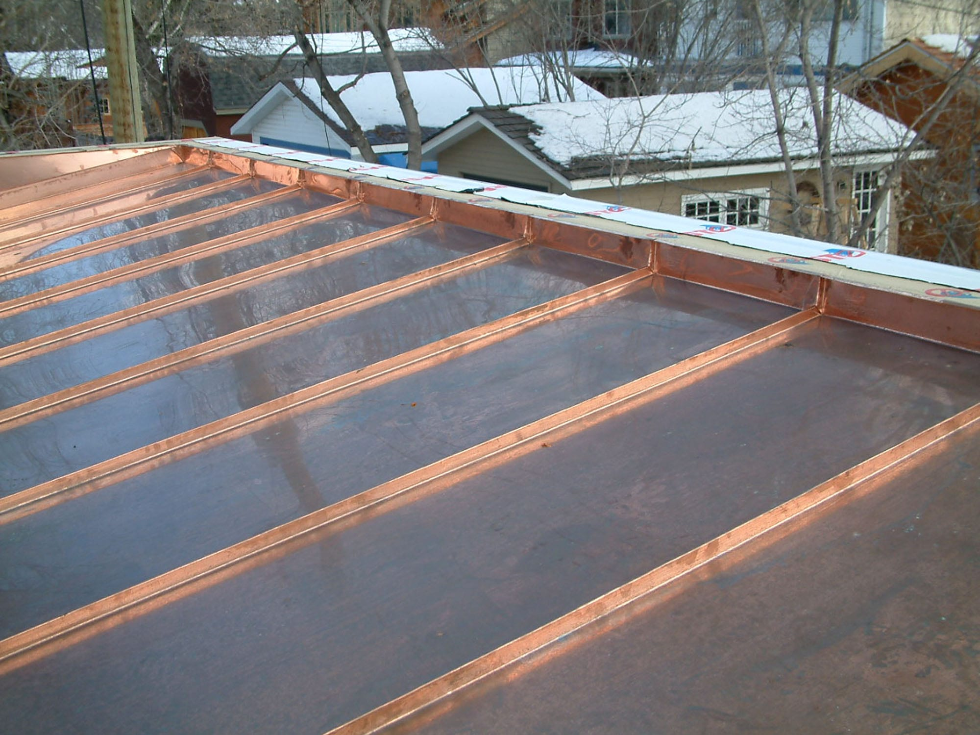 Custom Copper Roof